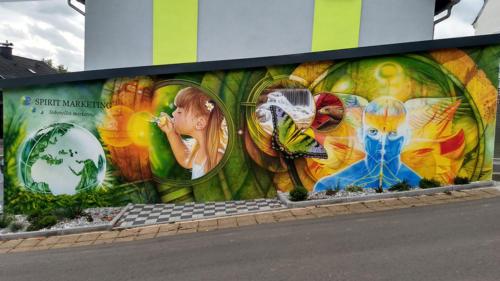 Wandmalerei Spirit Marketing